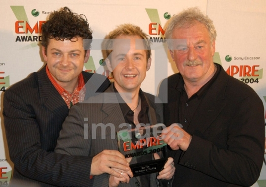 Andy Serkis, Billy Boyd and Bernard Hill