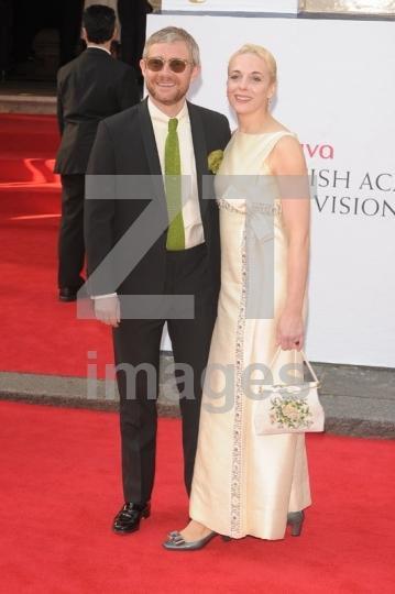 Martin Freeman and Amanda Abbington