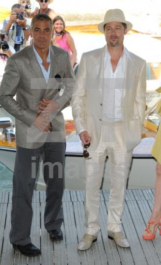 George Clooney and Brad Pitt