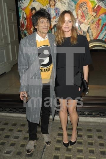 Stella McCartney and Ronnie Wood