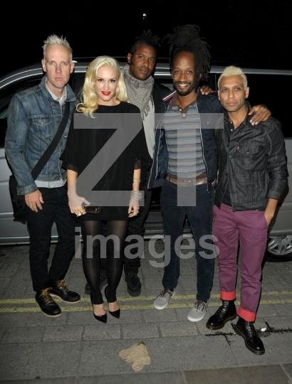 Gwen Stefani, Tom Dumont and Tony Kanal of No Doubt