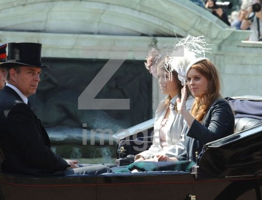 Prince Andrew, Princess Beatrice, Princess Eugenie