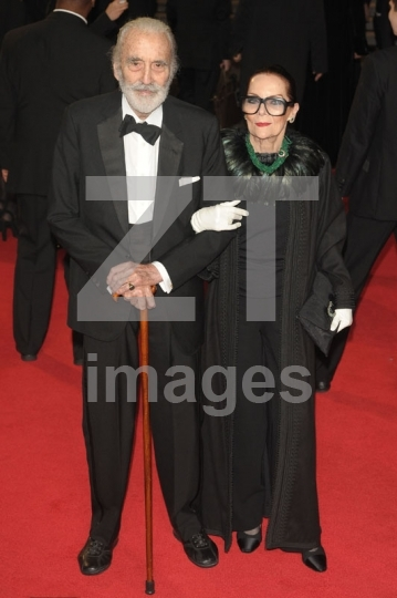 Christopher Lee and Birgit Kroencke